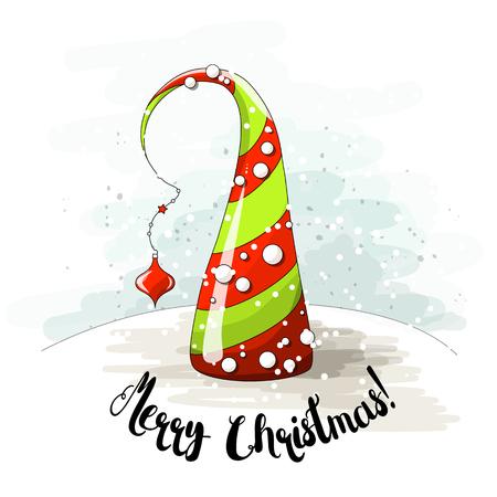 Abstrakter Weihnachtsbaum mit Perlen Standard-Bild - 88059335