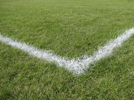 playing field: Corner boundary line of a generic playing field (football, soccer, baseball, rugby, cricket etc�)