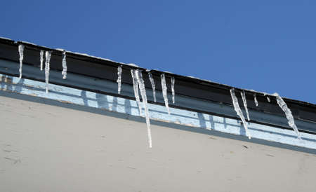 Spring is coming soon, icicles start melting� photo