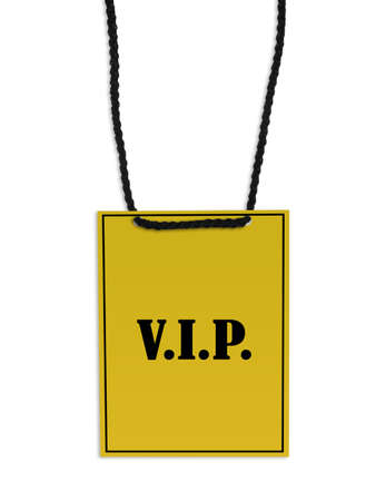 VIP back stage pass on white background. Stock Photo