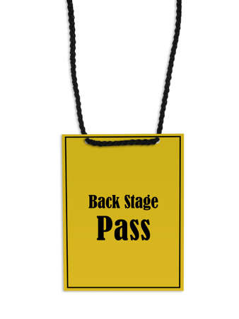 neckband: Backstage pass on white background.