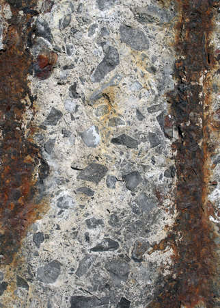 rusty background: Rusty iron, stone and concrete: urban background. Stock Photo