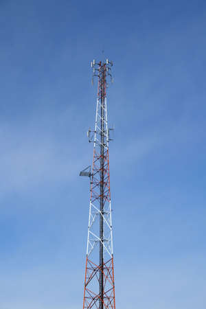 Multi antenna communications tower: radio, cell phones etc. Stock Photo - 809080