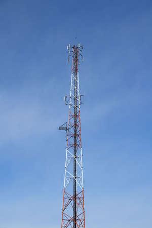 Multi antenna communications tower: radio, cell phones etc. Stock Photo - 809080