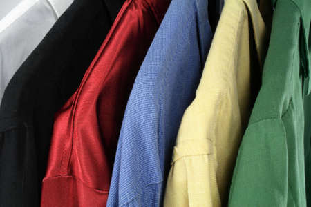 Closeup of colorful clothes (shirts of different colors). Stock Photo - 831586