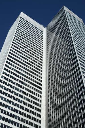 High-rise office building resambling an open book. photo