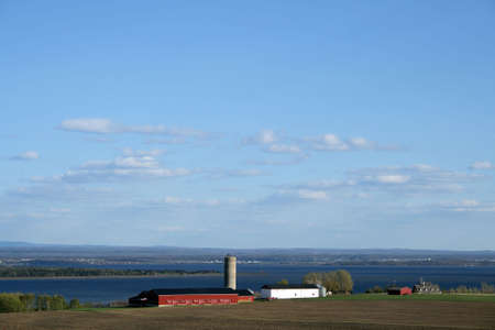 Rural landscape - farmland in spring (Quebec, Canada). Stock Photo - 1067351