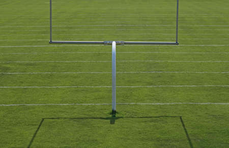 American football playing field with goal posts. Stock Photo - 1907155