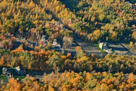 View of a newly constructed suburban district in bright colors of autumn. Stock Photo - 1953964