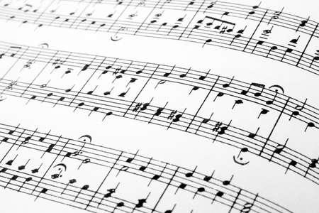 simbolos musicales: M�sica observa resumen de antecedentes, detalle de una hoja de m�sica.