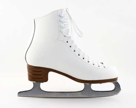 Elegant white figure skate for training and leisure.