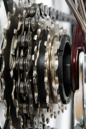 Bicycle gears.  Chainrings set closeup. Stock Photo - 3105336