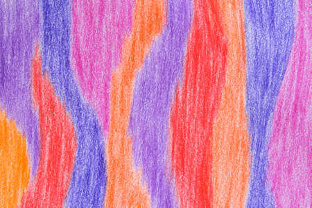 Colorful stripes. Abstract hand-drawn crayon background. photo