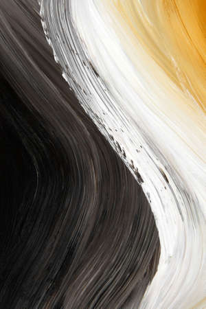 paints: Oil-painted three-color curve. Highly detailed oil painting. Stock Photo