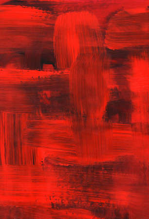 manually: Texture of red oil painting, thick brush strokes.