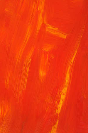 stoke: Texture of an abstract orange oil painting. Hand-painted. Stock Photo