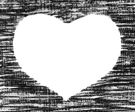 Hand-drawn pastel heart shape, isolated on white. Stock Photo - 3575231