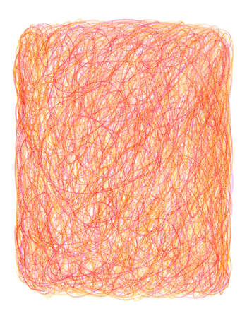 scrawl: Crayon scribble background in red and orange tones.