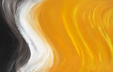 Abstract oil-painted curves. Highly detailed oil painting. Stock Photo - 3612011