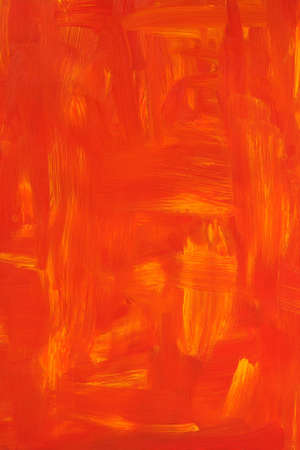 manually: Vibrant oil painted background. Texture of red and orange brush strokes.