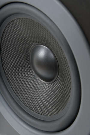 loud: Closeup of a professional loud speaker. Stock Photo