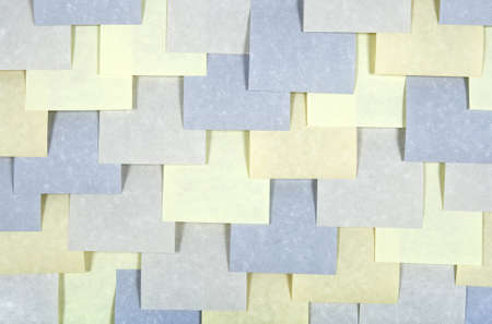 posting: Background of multi-colored sticky notes. Stock Photo