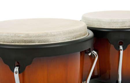 Closeup of bongos. Latin percussion instrument. photo