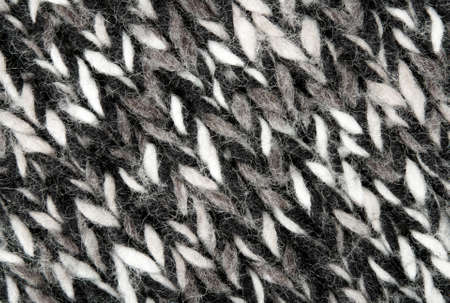 white fabric texture: Close-up or warm wool woven texture in black and white colors.