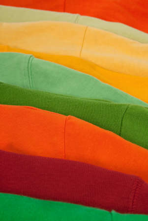 Close-up of multicolored clothing, abstract background. Stock Photo - 8189014