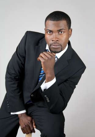 Portrait of a young African American business man. Stock Photo - 9455300