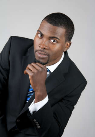Portrait of a smart African American business man. photo
