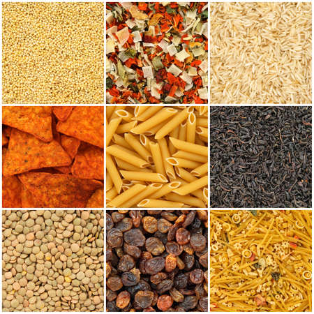 dried vegetables: Fondos de la Alimentaci�n Arroz, pasta, lentejas, mijo, legumbres secas, t�, fideos, papas fritas, pasas de uva