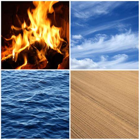 cuatro elementos: Cuatro elementos de la naturaleza fuego, agua, aire y tierra