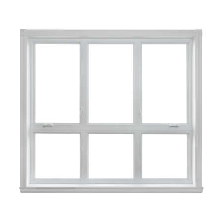 Modern window isolated on white background, with copy space  photo