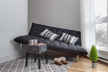 Platzmangel. Sofa, die nicht in das Wohnzimmer passten. Standard-Bild - 24038429
