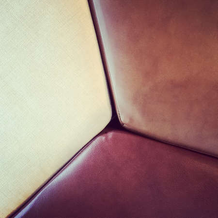 Close-up of furniture  Leather and textile seats  photo