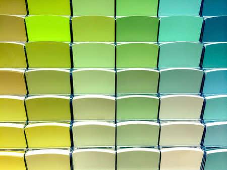 緑の色スウォッチを選択右のペンキの店で。 写真素材