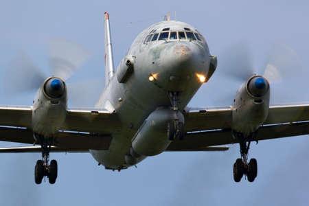Kubinka, Moscow Region, Russia - June 3, 2011: Ilyushin IL-20 of russian air force landing at Kubinka air force base. Redakční