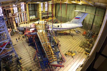 Khodynskoe Pole, Moscow, Russia - December 24, 2014: Ilyushin IL-76TD for static tests. Redakční
