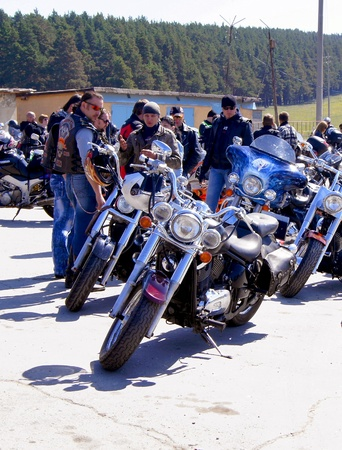 The reporting from a place of opening of the biker season in 2012,a place of gathering of bikers in the town of Beloretsk