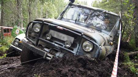 the city of Beloretsk,Bashkortostan,Russia Report on the competitions of Republican scale of ?????????????? driving auto and Moto technics ,held in the city of Beloretsk. The picture captured by the participant of competition which passes one of the stage