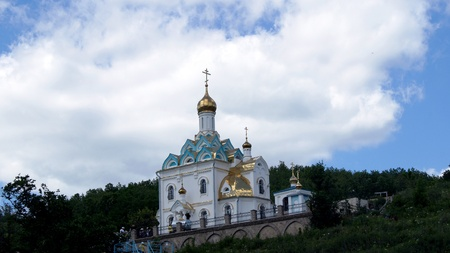 on June 15, 2012 , Табынск,Bashkortostan   Each of the 9th Friday after Pascha is held religious procession with the icon of the Mother of God  Табынская  with deep time and still is celebrated as the day of the manifestation of Табын Stock Photo - 19472931