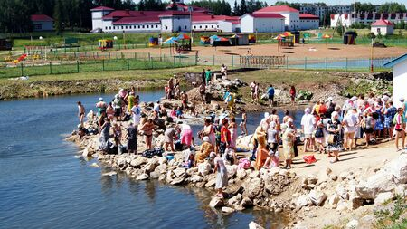 according to the scriptures: on June 15, 2012 ,city Krasnousolsk,Bashkortostan.Each of the 9th Friday after Pascha is held religious procession with the icon of the Mother of God