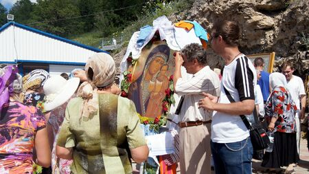 according to the scriptures: on June 15, 2012 ,city Krasnousolsk,Bashkortostan.Each of the 9th Friday after Pascha is held religious procession with the icon of the Mother of God Табынская with deep time and still is celebrated as the day of the manifestation of Табын