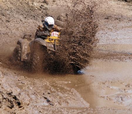 Extreme Rennen auf Gel�ndewagen