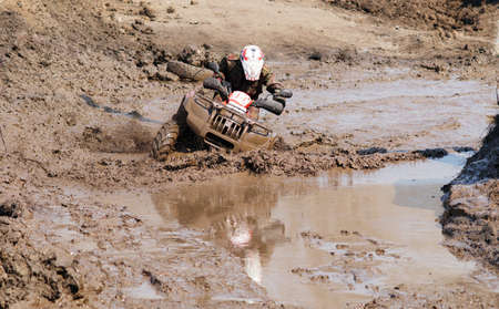 Extreme race on off-road vehicle
