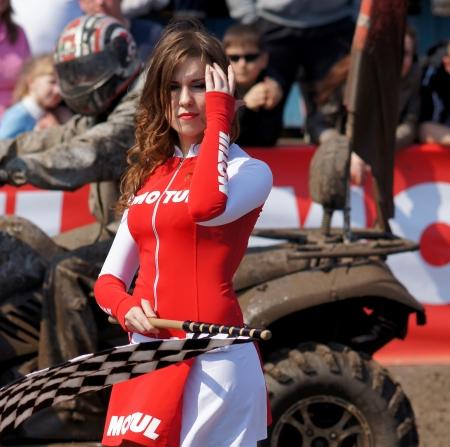 20-21 April 2013 Stadt Magnitogorsk, Russland, an einer speziell pr�parierten Spur Wettbewerbe auf off-road-Sprint