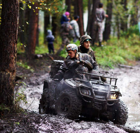 7 September 2013, the city of Beloretsk, Bashkortostan. The third stage of the VI open championship of the Republic of Bashkortostan for the trophy-RAID 'Ural stone', SUVs were the stages, specially prepared for the race.
