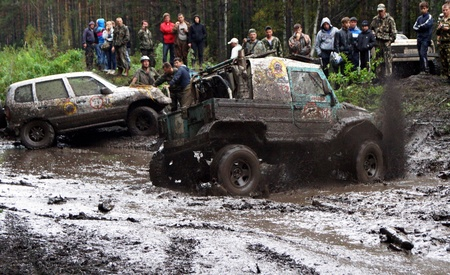 7 September 2013, the city of Beloretsk, Bashkortostan. The third stage of the VI open championship of the Republic of Bashkortostan for the trophy-RAID Ural stone, SUVs were the stages, specially prepared for the race.
