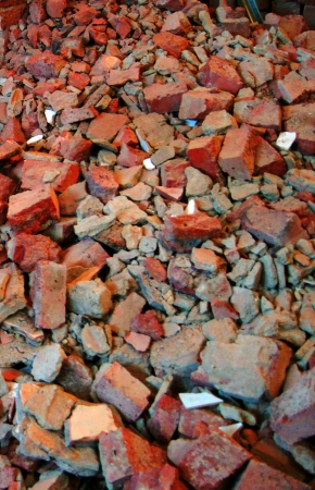 building material: Discarded remains of the building material.